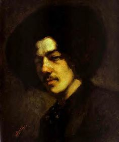 Whistler, James McNeill (1834-1903) - 1857 Portrait of Whistler with Hat