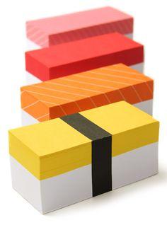 Sushi notepads!!! #stationery #sushi #kawaii