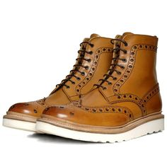 Grenson Fred V Boot (Tan)