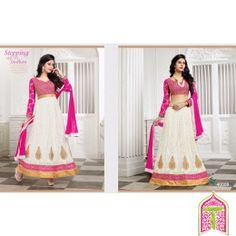 SemiStitched - Pink With White Stepping up to Fashion 2 in 1 Designer lehanga choli - By Thambi shopping