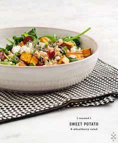Roasted sweet potato & wheat berry salad