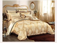 9pc. Luxury Dark Beige Silk Cotton Embroidered Queen King Duvet Cover Bed Set | Home & Garden, Bedding, Duvet Covers & Sets | eBay!