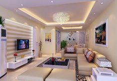 Simple Ceiling Design Ideas For Living Room Impressive Living Room Ceiling Designs You Need To See Tv Awesome Ceiling Living Room Designs Ceiling Design Living Latest 35 Living Room Interior Designs Simple Ceiling Design, House Ceiling Design, Ceiling Design Living Room, Home Ceiling, Living Room Lighting, Ceiling Lights, Room Lights, Cove Lighting Ceiling, Plaster Ceiling Design