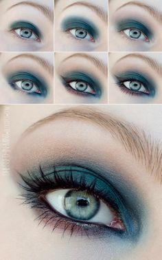 If you would like transform your eyes and improve your attractiveness, finding the best eye makeup tips can really help. You'll want to make sure to wear make-up that makes you look even more beautiful than you are already. Makeup For Green Eyes, Blue Makeup, Smokey Eye Makeup, Diy Makeup, Makeup Art, Makeup Eyeshadow, Makeup Tips, Eyeliner, Dark Eyeshadow