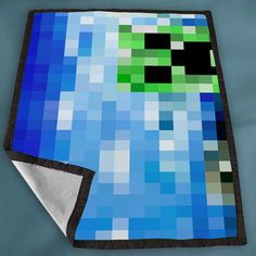 2 Minecraft creeper Games custom for Kids Blanket, Fleece Blanket Cute and Awesome Blanket for your bedding, Blanket fleece