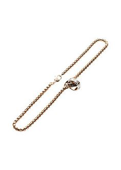 Versace - Double Ring Pendant Necklace  This piece of costume jewellery is a timeless accessory designed to add a bit of shine to your favourite outfit!