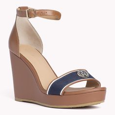 Tommy Hilfiger Emery Wedge - summer cognac (Brown) - Tommy Hilfiger Wedges & Espadrilles - main image