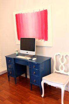 danielle oakey interiors: DIY Ombre Art