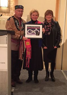 Congratulations to Jean Talliet on receiving the Order of the #Métis Nation. Date unknown.