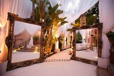 Mirror Entryway Photography: Jay Lawrence Goldman Photography Read More: http://www.insideweddings.com/weddings/glamorous-winter-wedding-in-beverly-hills-california/413/