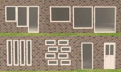 Mod The Sims - Maxis add-on: New 'Function of Plate Glass' windows and doors