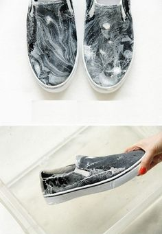 Handmade marble trainers