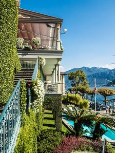 Grand Hotel Tremezzo, Lake Como, Italy - staircase with a view!