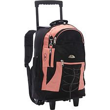 Everest Wheeled Backpack with Bungee Cord - Coral
