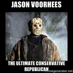 jason voorhees via Meme Generator Jason Voorhees, Horror Movies Funny, Scary Movies, Theme Halloween, Halloween Horror, Halloween Season, Halloween Stuff, Halloween Ideas, Halloween Costumes