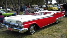 '59 Ford Fairlane Convertible, Ford Vehicles, Flying Car, Ford Fairlane, Car Ford, Old Cars, Vintage Cars, Hot Rods, Mustang
