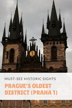 Explore the magical town of Prague and take a virtual walk through history. Don't miss these must-see historic sights located in Praha 1, Prague's oldest district or neighbourhood!