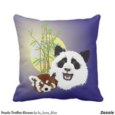 Panda Treffen Kissen Throw Pillows, Red Panda, Pillows, Animals, Photo Illustration, Toss Pillows, Decorative Pillows, Decor Pillows, Scatter Cushions
