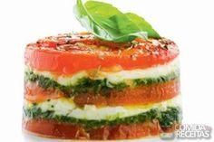 Receita de Torre caprese em receitas de saladas, veja essa e outras receitas aqui!