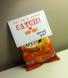 Goldfish Valentine You're a great catch by littleshoppeofpaper, $15.00