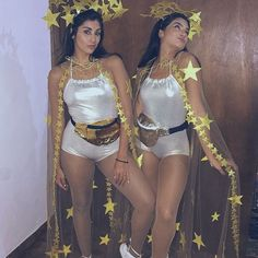 Rave Costumes, Burlesque Costumes, Cool Costumes, Couple Halloween, Halloween Outfits, Halloween Costumes, Festival Looks, Sun And Moon Costume, Make Carnaval