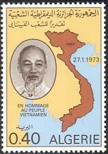Algieria 1973 Ho-Chi-Mihn/Viet Nam/Map/People/Politics/Politicians 1v (n42929)
