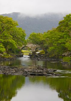 Ancient bridge, within Killarney National Park, Killarney, Ireland