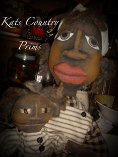 Primitive Grungy Black Folk Art PAPER PATTERN by Crazyforelves, $10.50