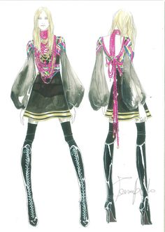 Givenchy for Madonna Sticky & Sweet tour  OMG!! love this.