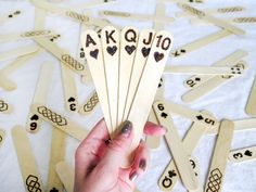 These are all kinds of cool! #DIY Popsicle Stick Playing Cards