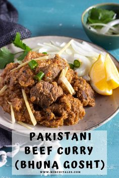 Bhuna gosht is a type of meat curry that is popular in Pakistan and North India. This particular recipe uses boneless beef and is also called beef bhuna. It's super easy to make and the beef is deeply flavourful. The recipe includes both stovetop and pressure cooker instructions.