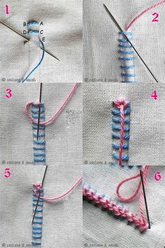 Raised Chain Band www.embroidery.rocksea.org/stitch/chain-stitch/raised-chain-band/