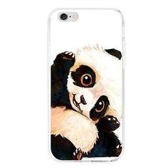 Precioso patrón de Panda caso Tpu A Prueba De Impactos Slim Cubierta Paragolpes Para Teléfono Celular Móvil