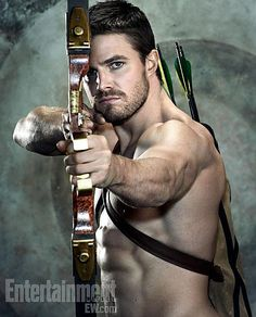 """Arrow"" I'm newly in love with this show. Mosty for it's awesome amount of hot guy shirtless-ness. But also because it's decently done comic book adaptation..... Oh and you know... The hotness and his shirtless-ness."
