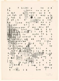 Jasper Johns Alphabets 1962 Lithograph Dimensions: 34 x x 61 cm) sheet 41 x 29 x cm) Neo Dada, Jasper Johns, Pop Art, Andy Warhol, Robert Rauschenberg, Letters And Numbers, Art Plastique, Collage Art, Collages