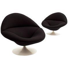 Pierre Paulin F553 Swivel Lounge Chairs for Artifort ca.1963