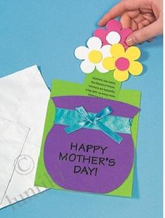 Детская открытка своими руками ко Дню Матери и 8 марта