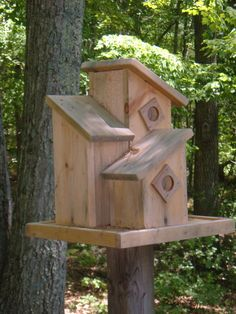 Birdhouse designs, plans and inspiration for building handcrafted wooden birdhouses and nesting boxes. These birdhouses are made for the birds!