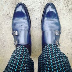Perfect blue with a perfect pattern. The new personalized Santoni from #MySantoniColours at #SantoniShoes.com as seen on @Simone_Monguzzi.  #Santoni #Santoni4Men #ShopOnline