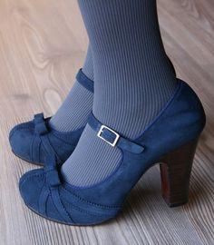 Blue suede shoes.