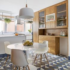 We know you can't wait to hear more so here's some fluffy ideas for your interior decor you'll absolutely adore! Kitchen Flooring, Kitchen Dining, Kitchen Decor, Floor Design, House Design, Sweet Home, Dinner Room, Interior Decorating, Interior Design