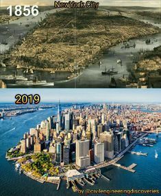 New York City 1856 vs 2019 ,Manhattan ,USA - Um lugar para conhecer. Informationen zu New York City 1856 vs 2019 ,Manhattan ,USA Pin Sie könne - World Trade Center, Ciudad New York, Twin Towers, 11 September 2001, New York City, Then And Now Pictures, City Landscape, Travel Usa, Old Photos