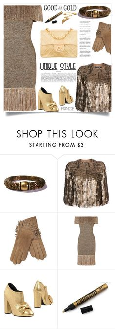 """Shimmy Shimmy: Fringe"" by samra-bv ❤ liked on Polyvore featuring Salvatore Ferragamo, Maison Fabre, Christopher Kane, Morobé and Chanel"