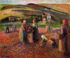 Potato Harvest 2 - Camille Pissarro - Oil Painting Reproduction