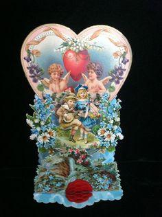 antique German paper Valentine