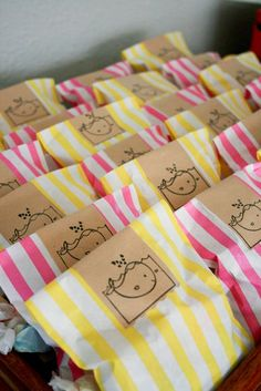 our baby shower favors: salt water toffee {whale's favorite treat!}