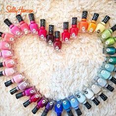 Gel Polish Designs, Gel Nail Polish Colors, Gel Nail Art, Nail Colors, Gel Nails, Nail Polishes, Acrylic Nails, Sally Hansen Nails, Super Nails