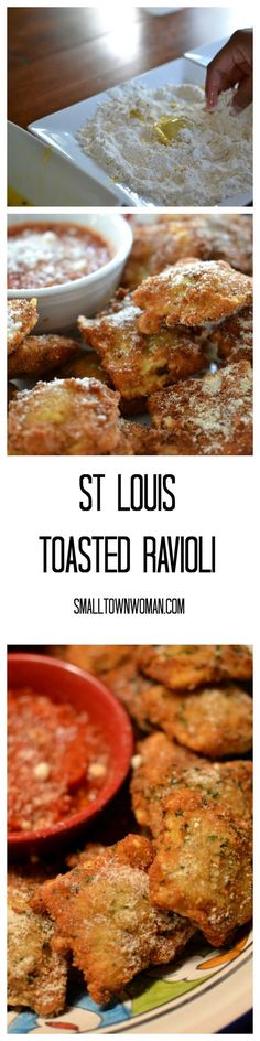 If you have never tried these you must now.  My son is addicted to toasted ravioli.  If you are not from around St. Louis than you have probably never had them.  We really know our food down here in the Midwest!