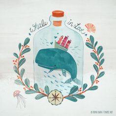 Sweet, sad whale in a bottle
