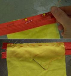 Make a Change Purse - DIY Change Purse Tutorial: Pin and Stitch the Zipper